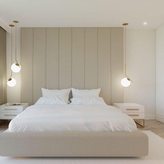 sypialnia w kobiecym apartamencie