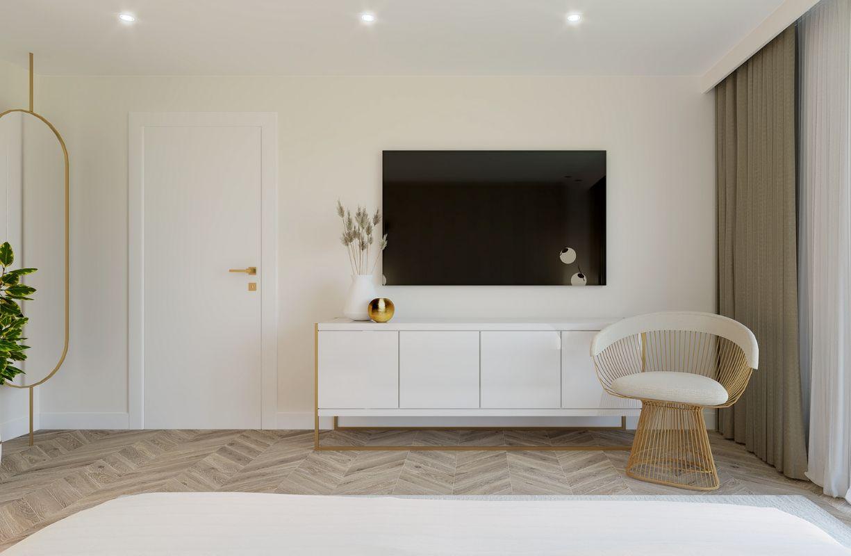 projekt sypialni w kobiecym apartamencie