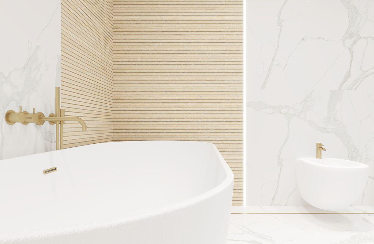 łazienka w białym marmurze